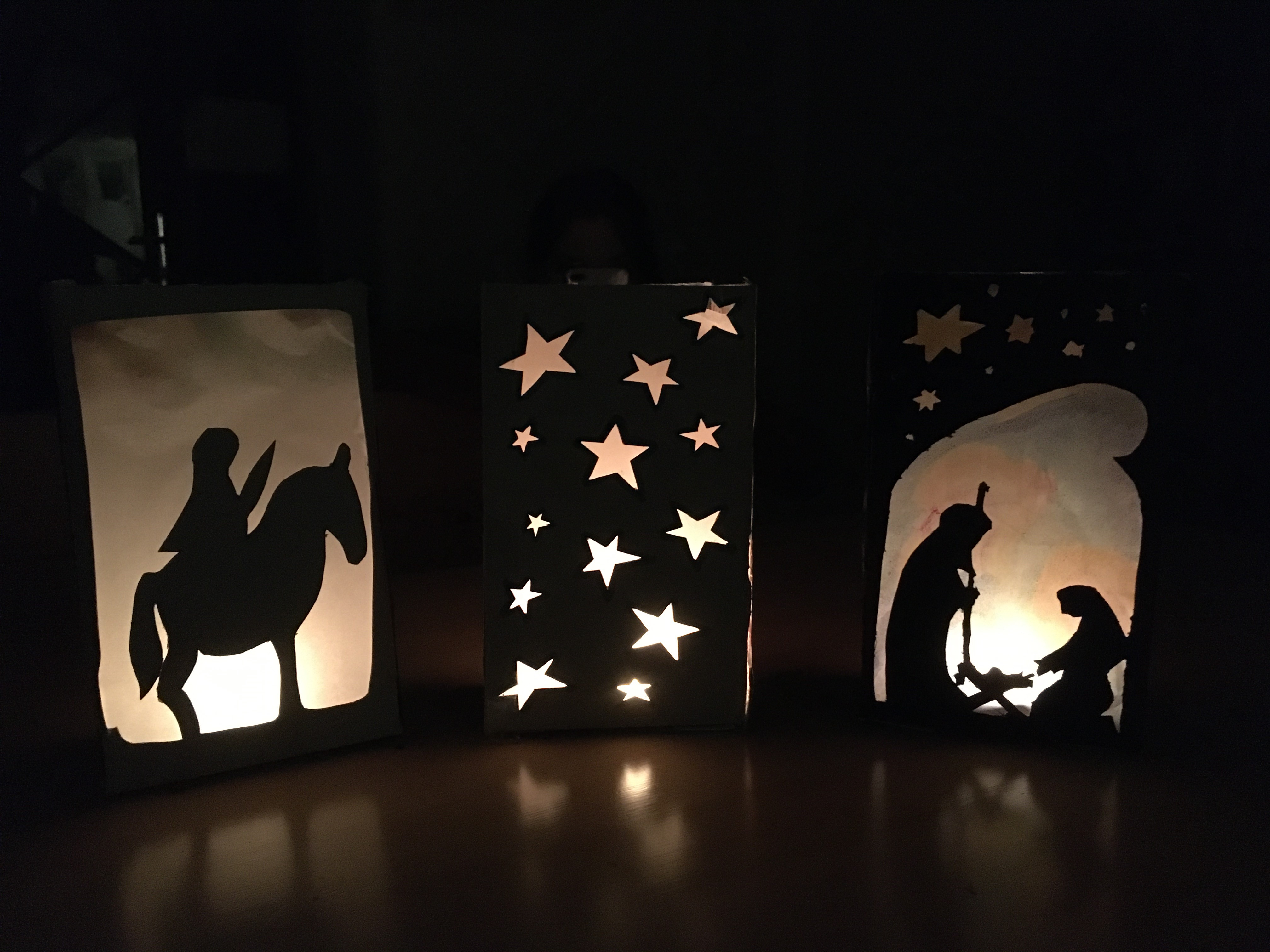 I enjoyed crafting these lanterns. (c) Anna Whitehead.